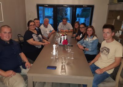 Dinner with Ambassador in Bratislava