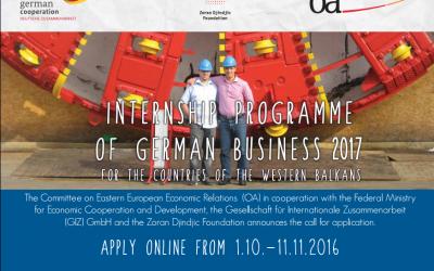 Programu stipendija njemačke privrede za 2017. godinu