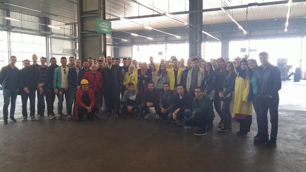 Posjeta studenata kovačnici CIMOS i preduzeću za proizvodnju auto dizaličnih komponenti ADK d.o.o. Novi Travnik