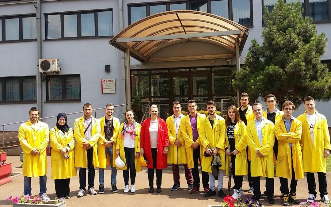 Stručno-edukativna posjeta pogonima CIMOS TMD CASTING d.o.o. Zenica